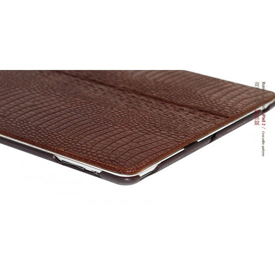Чехол Borofone для iPad 4/ 3/ 2 - Crocodile pattern коричневый