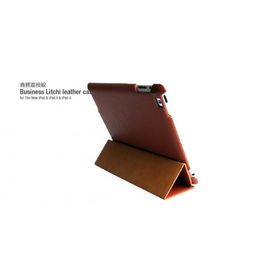 Чехол HOCO для iPad 4/ 3/ 2 - Three angle bracket protective case Brown