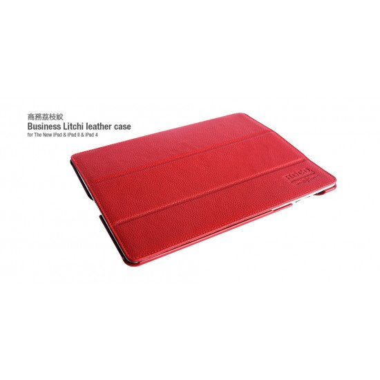 Чехол HOCO для iPad 4/ 3/ 2 - Three angle bracket protective case Red
