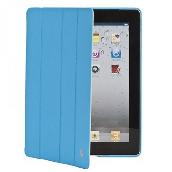Чехол Jisoncase Executive для iPad 4/ 3/ 2 голубой