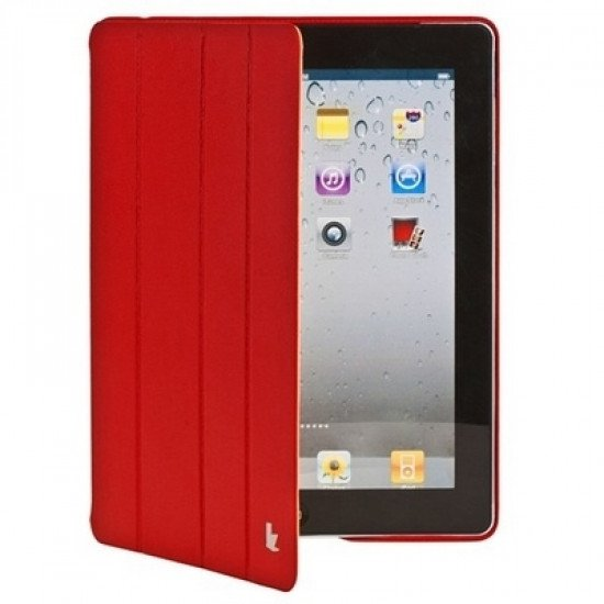 Чехол Jisoncase Executive для iPad 4/ 3/ 2 красный