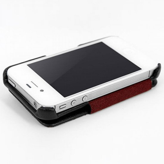 Чехол HOCO для iPhone 4s/ iPhone 4 - HOCO Baron Leather Case Черный