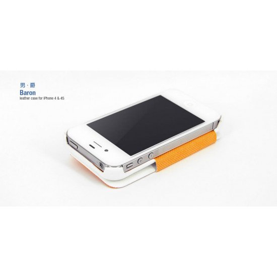 Чехол HOCO для iPhone 4s/ iPhone 4 - HOCO Baron Leather Case Белый