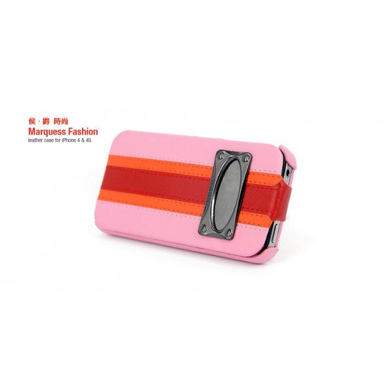 Чехол HOCO для iPhone 4s/ iPhone 4 - HOCO Leather Case Marquess Fashion Розовый