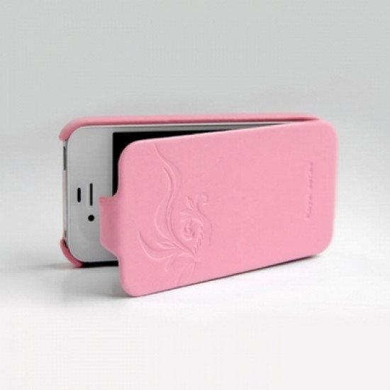 Чехол HOCO для iPhone 4s/ iPhone 4 - HOCO Leather Case Earl Fashion Розовый