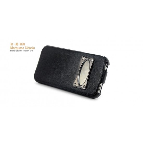 Чехол HOCO для iPhone 4s/ iPhone 4 - HOCO Leather Case Marquess Classic Черный