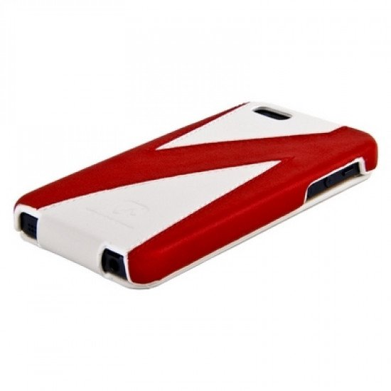 Чехол HOCO для iPhone 5 - Mixed color Leather Case H Красно-белый