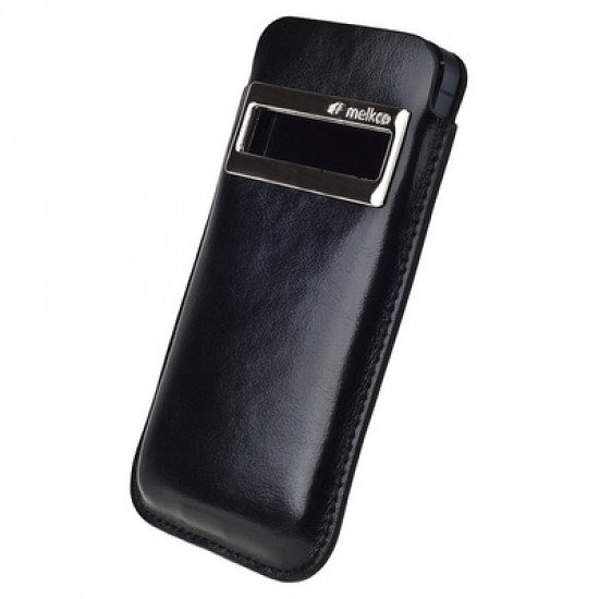 Чехол Melkco для iPhone 5 Leather Case iCaller Type (Vintage Black) with Melkco Cover