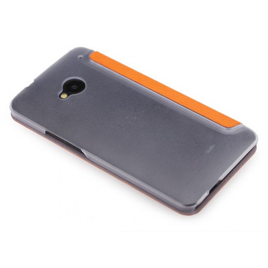 Чехол-книжка ROCK - Fashion Luxury Leather flip case для HTC One M7 Оранжевый