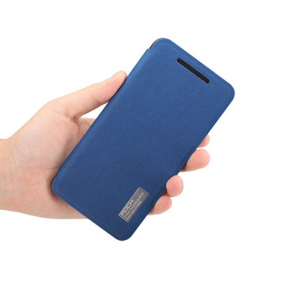 Чехол-книжка ROCK - Fashion Luxury Leather flip case для HTC One M7 Синий