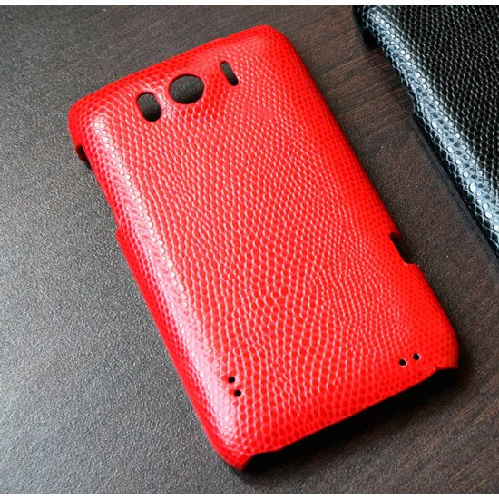 Чехол  Leather Snake для HTC Sensation XL Красный