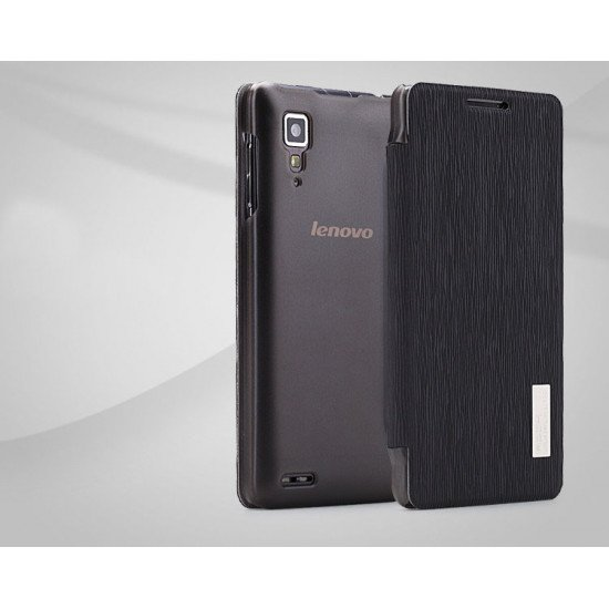 Чехол-книжка ROCK - Fashion Luxury Leather flip case для Lenovo P780i Черный