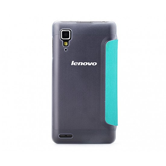 Чехол-книжка ROCK - Fashion Luxury Leather flip case для Lenovo P780i Голубой