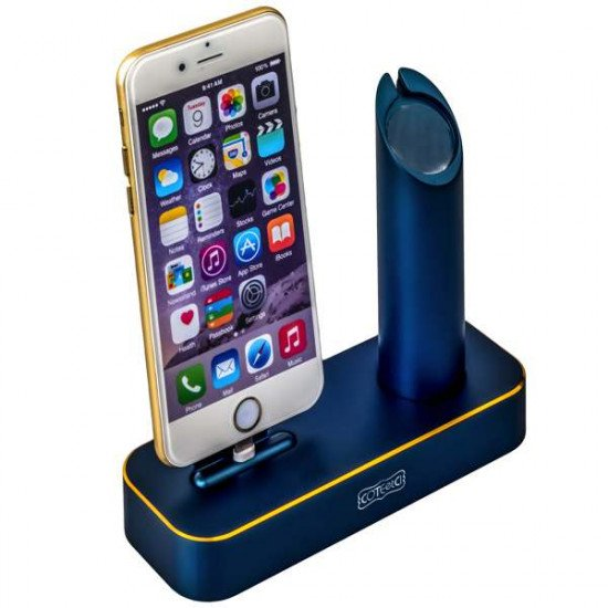 Док-станция COTEetCI Base1 Charging Cradle для Apple Watch & iPhone X/ 8 Plus/ 8/ SE/ iPod stand CS2045-BKG Blue - Темно-синия