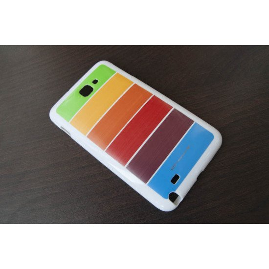 Чехол-накладка Rainbow TPU для Samsung Galaxy Note - N7000 Белый