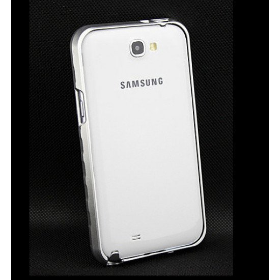 Алюминиевый бампер (Type1) для Samsung Galaxy Note II - N7100 серебристый
