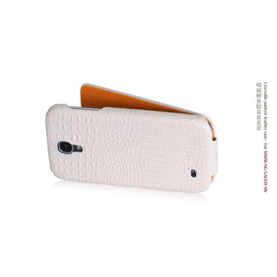 Чехол-книжка Borofone Crocodile Leather case для Samsung Galaxy S IV i9500 Белый