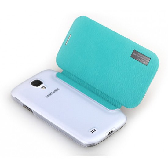 Чехол-книжка ROCK - Fashion Luxury Leather flip case для Samsung Galaxy S IV i9500 Голубой