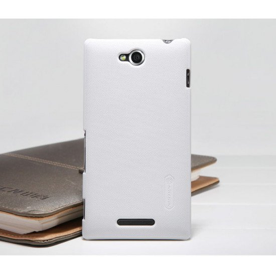 Чехол-накладка Nillkin Super Frosted Shield для Sony Xperia C S39h Белый