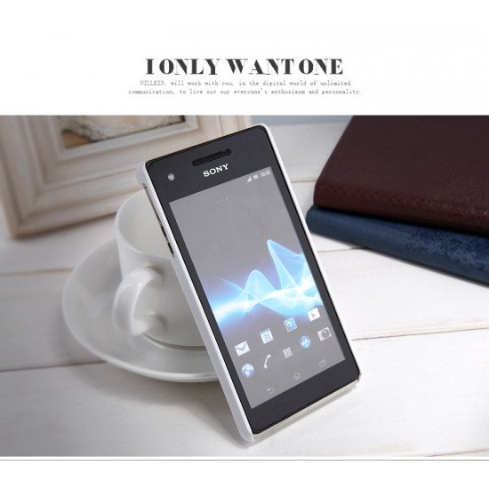 Чехол Nillkin для Sony Xperia V LT25i Super Frosted Shield Белый