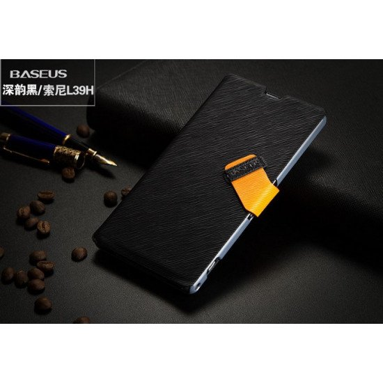 Чехол-книжка Baseus Faith Leather Case для Sony Xperia Z1 L39h Черный