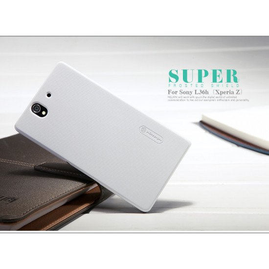 Чехол-накладка Nillkin Super Frosted Shield для Sony Xperia Z C6603 Белый